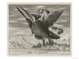 Zeus Ganymede Eagle Giclee Print by Briout 
