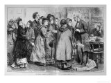 Women Lobbying an Mp on the Subject of Women's Rights During the General Election Giclee Print by Frederick Barnard