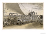 The Paying-Out Machinery on the Deck of the Great Eastern Giclee Print by Robert Dudley