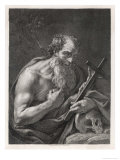 Saint Jerome Contemplates the Image of Jesus on the Cross Giclee Print by Henry Fuseli