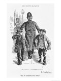 Jolly Plump Police Constable and His Tearful Prisoners Giclee Print by Percy Bradshaw