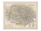 Mapa de Norfolk Lámina giclée por James Archer