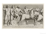 Roman Charioteer Receives His Instructions Before the Race Giclee Print by Pietro Santi Bartoli