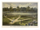 Grand Match for the Championship at the Elysian Fields Hoboken New Jersey Giclee Print by  Currier & Ives
