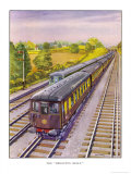 "The Southern Railway's Electric Pullman Express the ""Brighton Belle"" Between London and Brighton Premium Giclee Print by R.m. Clark"
