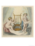 One Cherub Plays the Lyre While Another One Sings All for the Benefit of Mr. Jones Giclee Print by Francesco Bartolozzi