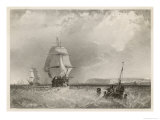 Sailing Vessels off the North Foreland Kent Giclee Print by Brandard