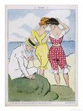 Swimwear 1908 Le Rire Giclee Print by Paul Balluriau
