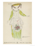 The Winter&#39;s Tale, Costume Design for a Shepherdess in the 1920 Paris Production Reproduction proc&#233;d&#233; gicl&#233;e par Fauconnet 