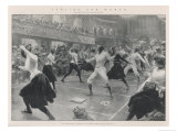 An Exhibition of Ladies, Fencing at Oxford Town Hall Giclee Print by G. Amato