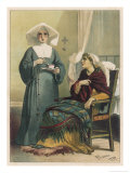 Sick Looking Patient and Her Nurse Giclee Print by D. Euesbio