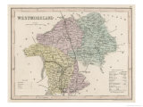 Map of Westmoreland Giclee Print by James Archer