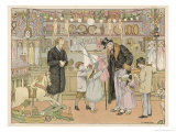 Children Crowd Round Their Grandfather with Dolls Boats and Toy Animals in This Toy Shop Giclee Print by Francis Bedford