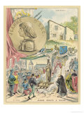 Joan of Arc, Her Supposed Home at Domremy and Her Supposed Death Giclee Print by Melville Gilbert