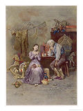 Caleb Plummer and His Daughter, The Cricket on the Hearth, Giclee Print, Frederick Barnard