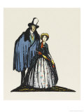 Little Dorrit and Arthur Clenham Giclee Print by Claud Lovat Fraser