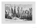 """The Sick Goose and the Council of Health,"" a Satire on Patent Medicines Giclee Print by George Cruikshank"