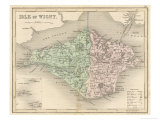 Map of the Isle of Wight Giclee Print by James Archer