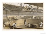 At Greenwich the Cable is Carefully Coiled in Tanks Before Loading Aboard the Great Eastern Giclee Print by Robert Dudley