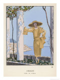 Dress by Worth Giclee Print by Georges Barbier