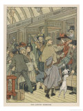 Children Arrive at a London Terminus Giclee Print by Francis Bedford
