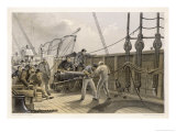 "Splicing the Broken Cable Aboard the ""Great Eastern"" after the First Break Giclee Print by Robert Dudley"
