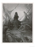 Life-In-Death Dices with Death Himself to Decide the Fate of the Sailors Reproduction procédé giclée par Gustave Doré