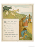 Baa Baa Black Sheep Have You Any Wool Giclee Print by Edward Hamilton Bell