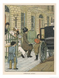 Leaving for Home at the End of a Holiday in London Giclee Print by Francis Bedford