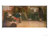 Listening to a Piece by Beethoven for Violin and Piano Premium Giclee Print by L. Balestrieri