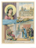Burgundian Princess Wife of Clovis Giclee Print by Melville Gilbert