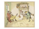 """A Frog He Would A-Wooing Go"" 3 of 4 Giclee Print by Randolph Caldecott"