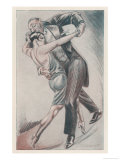 Shocking Frock 1928 Giclee Print by Chancel 