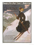 Come to Chamonix for the Very Finest Skiing Impression giclée par Abel Faivre