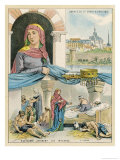 Radegonde Queen of the Franks Consort of Clotaire I Giclee Print by Melville Gilbert