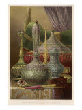 Group of Various Items from India Principally Enamelled Including Vases and Boxes Giclee Print by Bedford