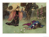 A Midsummer Night's Dream, Titania and Bottom Premium Giclee Print by Warwick Goble