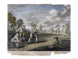 Cricket Match at the Artillery Ground London Giclee Print by Benoist