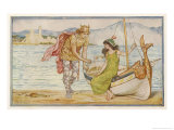 """The Horse and the Sword"" Sigurd Gives the Ring to Helga, an Icelandic Tale Giclee Print by Henry Justice Ford"