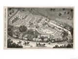 Regent's Park London: a Bird's Eye View of the Gardens of the Zoological Society Giclee Print by I. Dodd