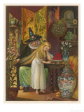 The Witch Combs Gerda's Hair Giclee Print by Eleanor Vere Boyle