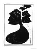 The Black Cape Giclee Print by Aubrey Beardsley