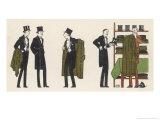 Gentlemen in Evening Dress Queue to Collect Their Overcoats from the Cloakroom Giclée-Druck von Bernard Boutet De Monvel