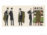 Gentlemen in Evening Dress Queue to Collect Their Overcoats from the Cloakroom Giclee Print by Bernard Boutet De Monvel