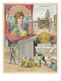 Fredegonde Queen of the Franks: Wife of Chilperic Giclee Print by Melville Gilbert