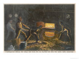 Stokers at Work in the Hold of a Coal-Burning Steamship Giclee Print by Adolf Bock