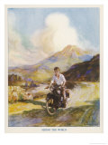 Boy Riding Motor Bike Reproduction procédé giclée par Algernon Fovie