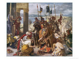 Fifth Crusade: The Crusaders Under Baudouin Take Constantinople Premium Giclee Print by Eugene Delacroix