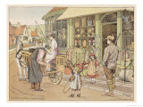 Outside an Ironmonger&#39;s Shop in a Country Town Giclee Print by Francis Bedford