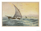 Arab Dhow Used on the East African Coast Giclee Print by Adolf Bock